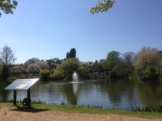 The lake, Bletchley Park
