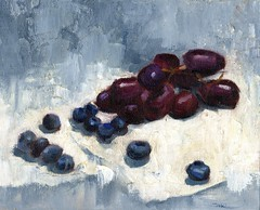 Blueberries & Grapes 031615 oil w cw 8x10