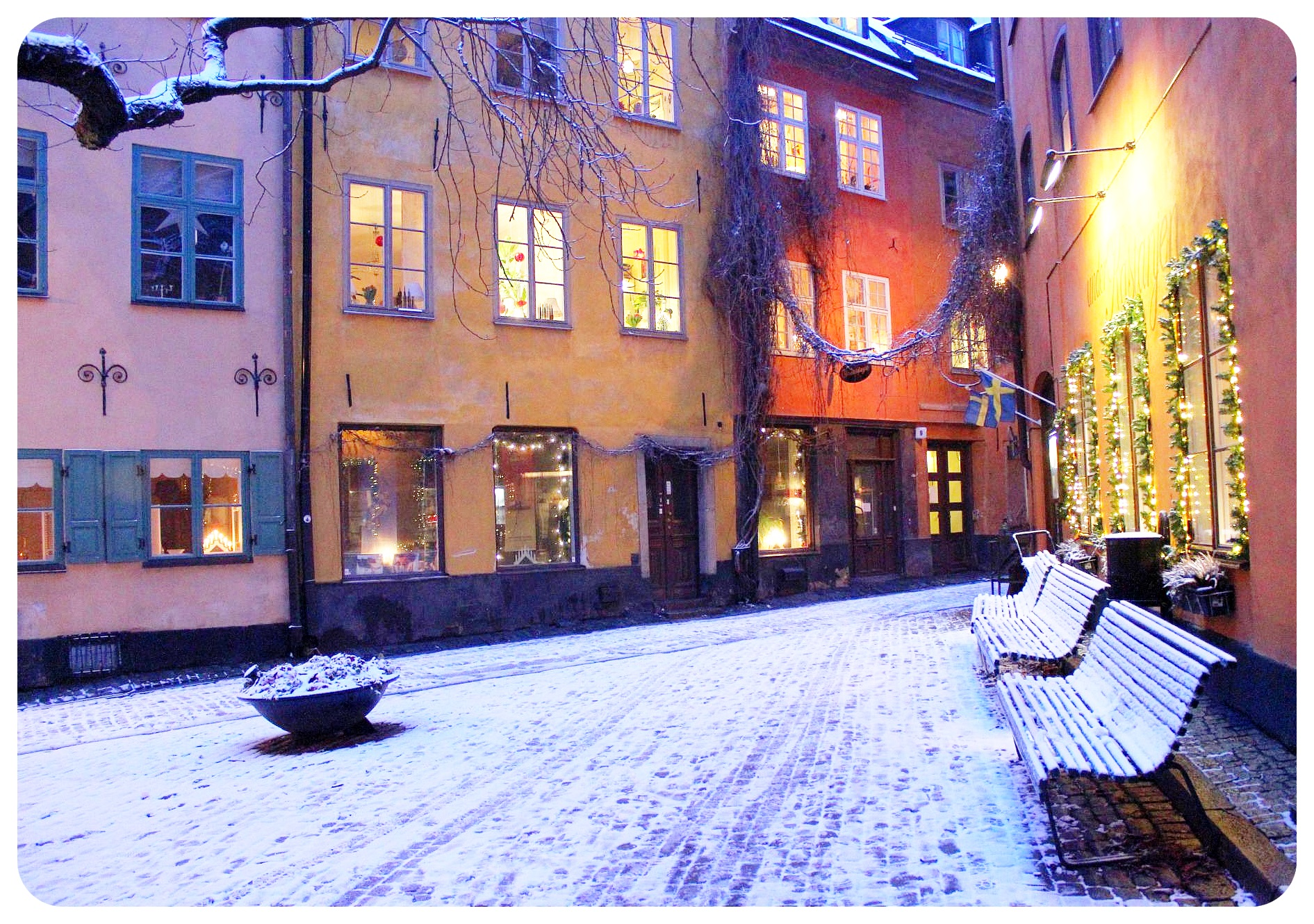 gamla stan stockholm in the winter