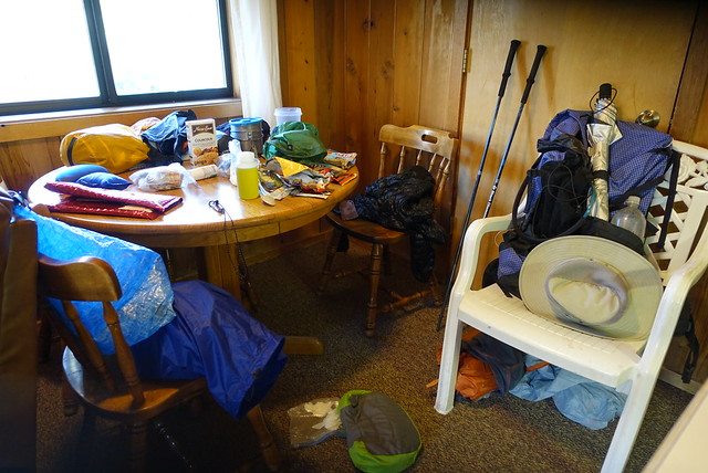 PCT.  Trail cruft explosion in the room