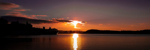 Sunset over the sea, Oslo. Norway.