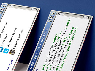 Notepad programmer business card design