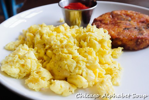 Scrambled Eggs and Mashedbrown