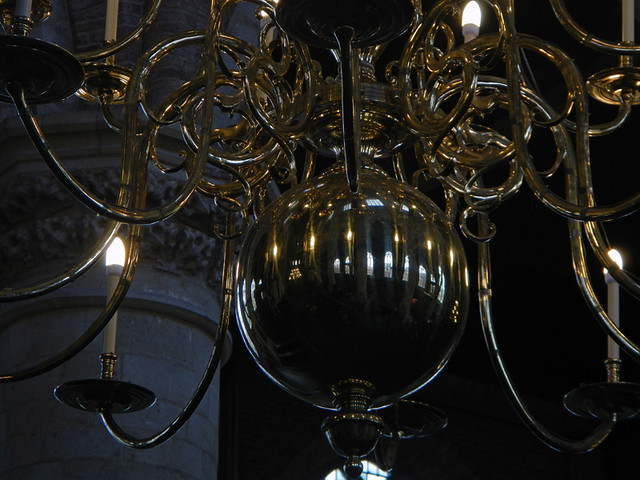 Chandelier in the New Church in Delft, Holland