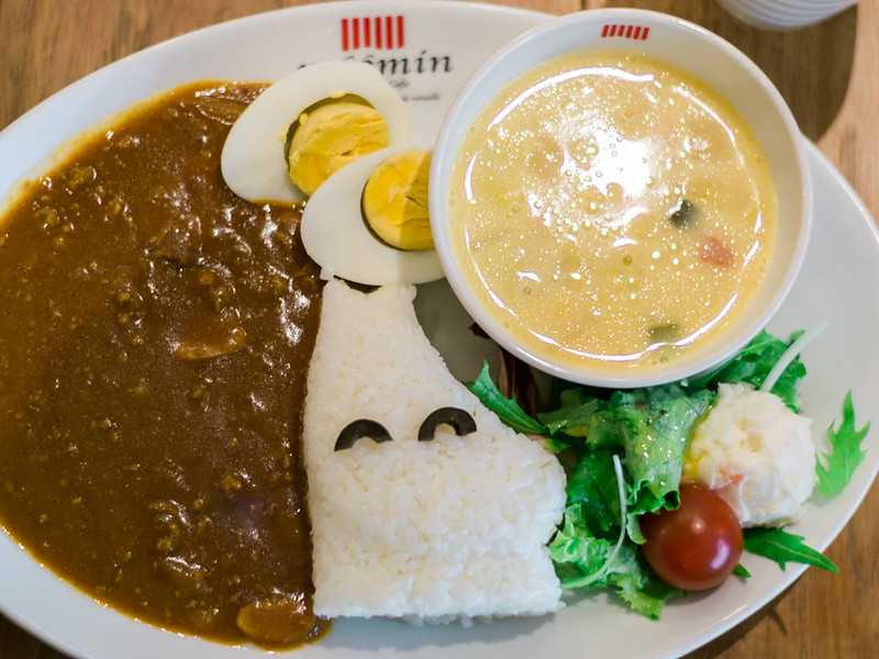 Curry for lunch at Moomin Cafe.