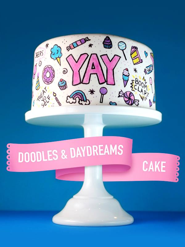 Doodle and Daydreams Cake