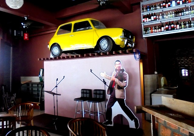 Mr Bean and car