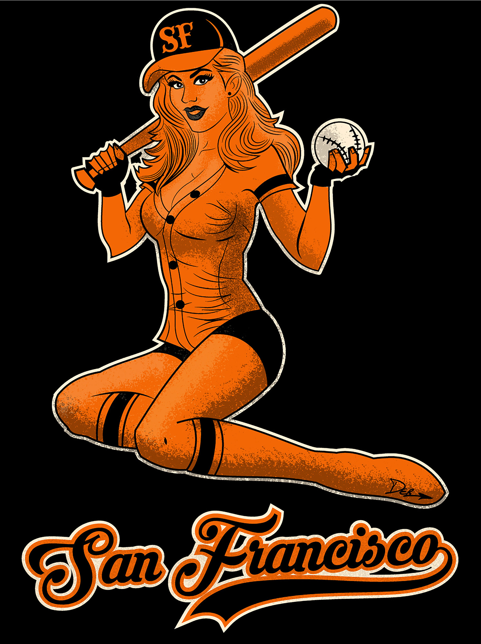 SF Giants Pin-Up Girl 2