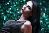 Beauty glamour Portrait - green bokeh