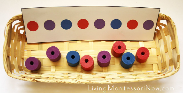 Color Pattern Matching with Wooden Beads