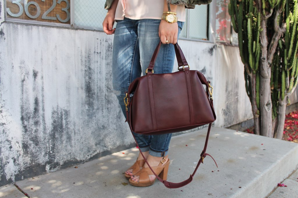 Madewell leather satchel