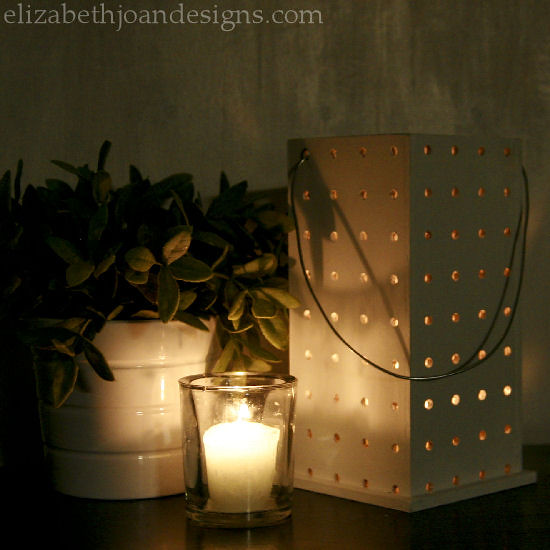 Pegboard Luminary Candle