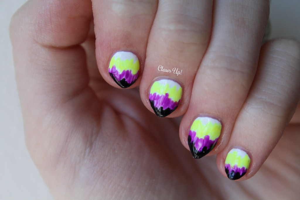 Electric neon nail art.