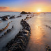 Barrika beach at sunset by Mimadeo