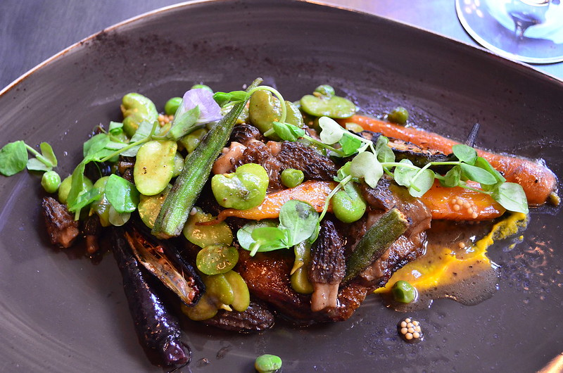 Smoked Duck Confit with Favas and Morels