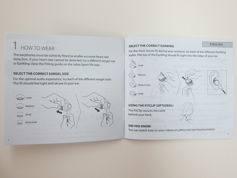 Jabra Sport Pulse - Instructions