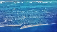 Long Island from the air, false color