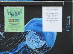 City of Long Beach Ocean Beach Park daily passes $15.00 summer of 2016 rate on LBI Long Beach Island, New York