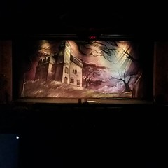 Working on tech cues for 'Addams Family'