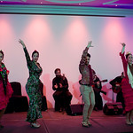 Impressive flamenco dancers during the gala dinner