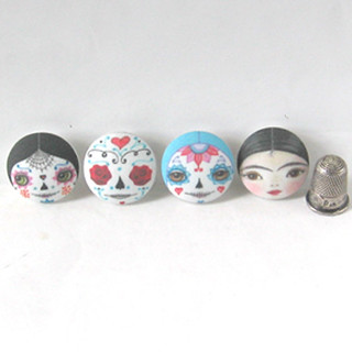 Dayof the Dead & Frida Covered Buttons