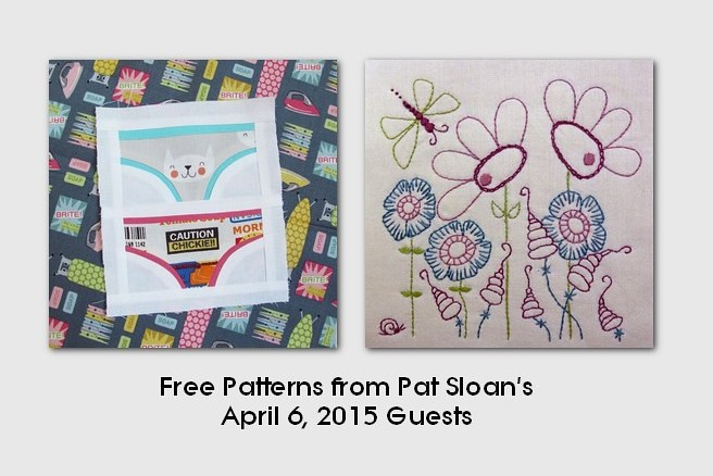 pat sloan April 6 2015  free patterns