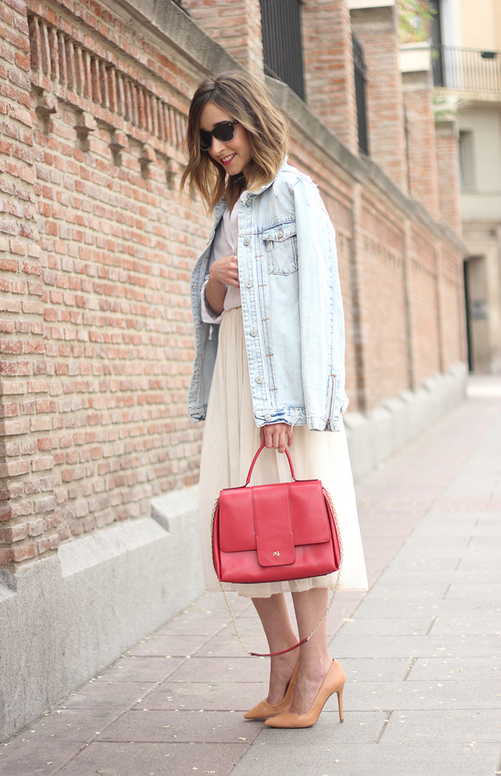 Tulle Skirt Denim Jacket13