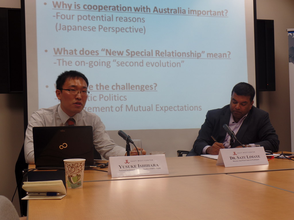 Yusuke Ishihara  Research Fellow, National Institute for Defense Studies (NIDS), Japan (left) and Dr. Satu Limaye