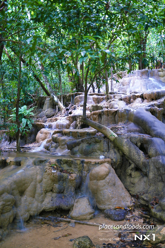 namtok wang sai thong waterfall in the forest