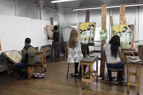 Chalk pastel studies of master drawings