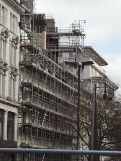 Scaffolding on 66 - 69 New Street, Birmingham