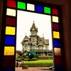 The Carson Mansion seen through a broken window... I'm going to some sort of presentation there tonight.  Anybody else going?