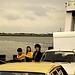 Allemagne, été 85, diapo numérisée, photo Georges: sur le ferry sur l'Elbe. by Marie-Hélène Cingal