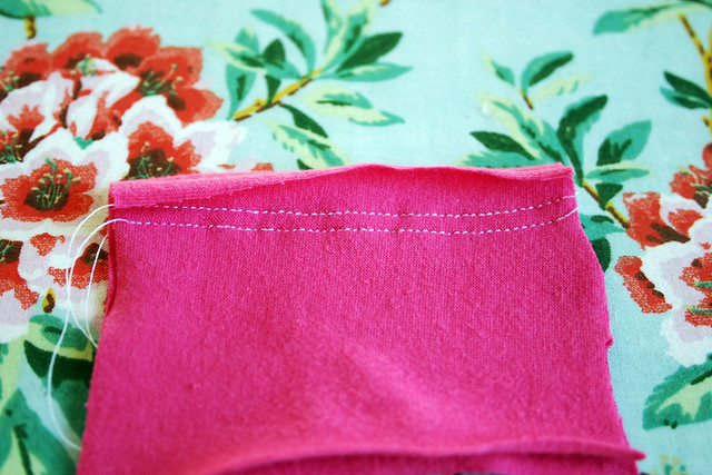 straight stitch seam