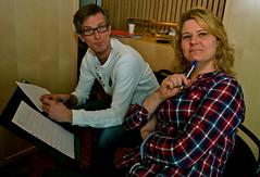 Domare i arbete: Mattias Hjortlinger och Johanna Andersson