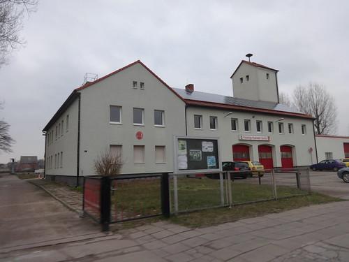 1953 Genthin Feuerwache mit Schlauchtrockenturm Geschwister-Scholl-Straße 47 in 39307