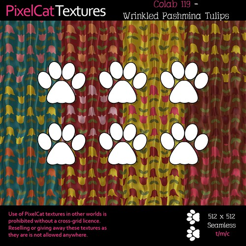 PixelCat Textures - Colab 119 - Wrinkled Pashmina Tulips
