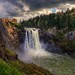 Spring Afternoon At Snoqualmie Falls by Fresnatic