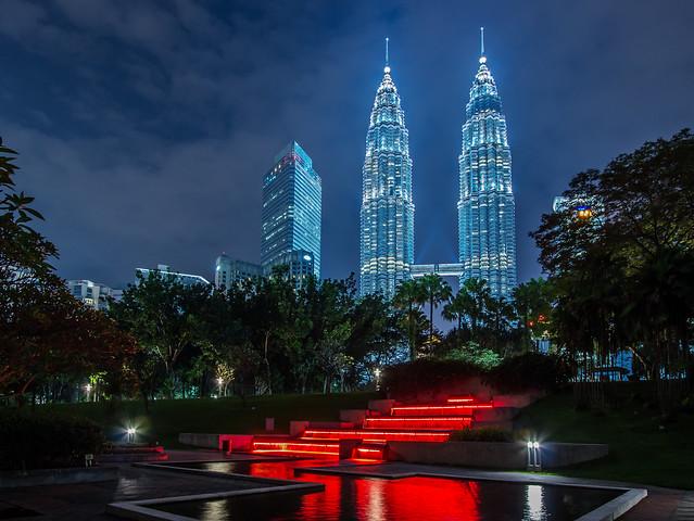 Evening walk in Kuala Lumpur, Malaysia