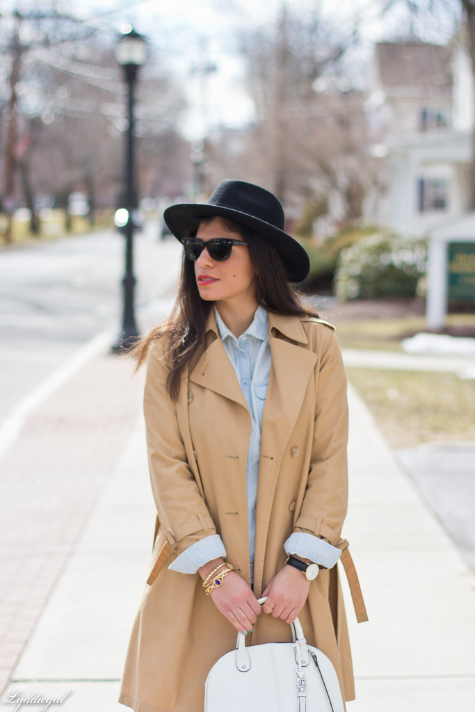 double denim, trench coat, wool fedora-4.jpg