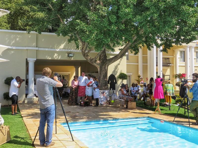 Photoshoot at the Pretoria mayor's house