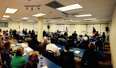 Councilmember Mitch O'Farrell at the April EVNW meeting.