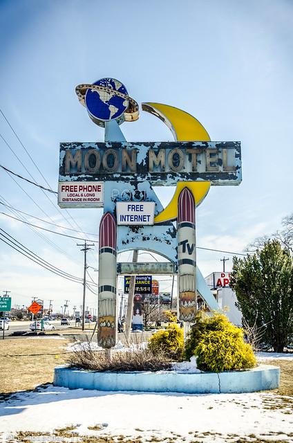 Abandoned Moon Motel - Vintage Neon Sign - II
