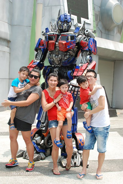 Photo time with Optimus Prime.