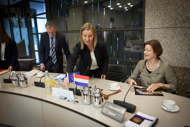 Federica Mogherini visit to the Netherlands