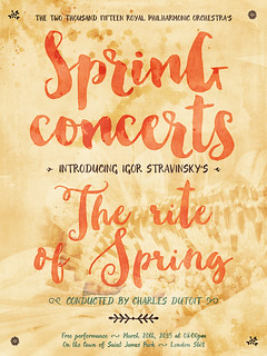Create a Bright and Cheery Spring Concert Poster