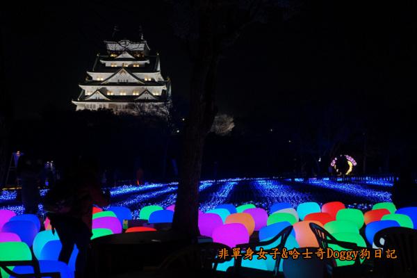 日本大阪城公園梅林城天守閣3D光之陣22