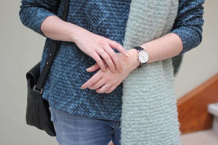 outfit: daniel wellington watch, diamanti per tutti rings
