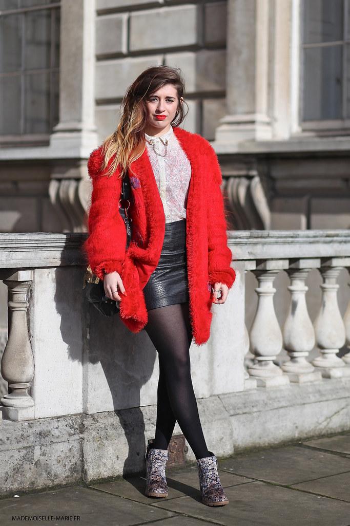 Courtney Ward at London Fashion week