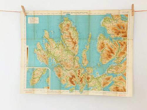 Vintage Isle of Skye map